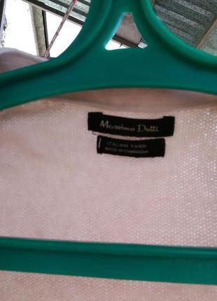 Шикарный нюдовый свитер/кардиган с заплатками на рукавах от massimo dutti4 фото