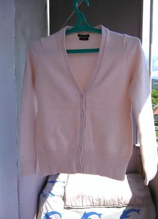 Шикарный нюдовый свитер/кардиган с заплатками на рукавах от massimo dutti6 фото