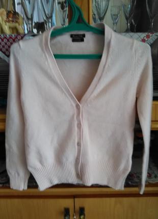 Шикарный нюдовый свитер/кардиган с заплатками на рукавах от massimo dutti9 фото