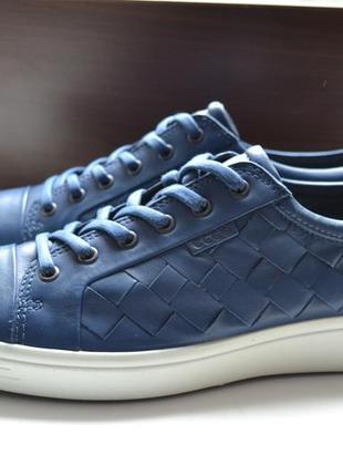 Ecco 45р ботинки полуботинки сникерсы кроссовки сток . кожаные.