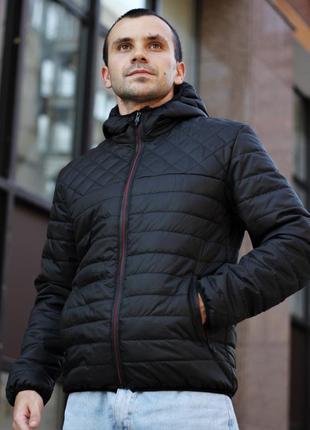 Мужская осенняя курточка ромб/полоса