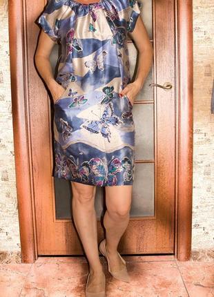 Шелковое платье сукня сарафан натуральный шелк