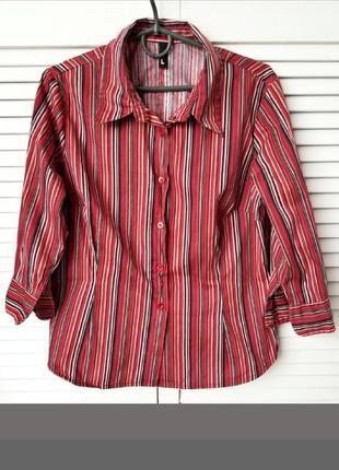 Натуральная,полосата,цветная,сочная рубашка