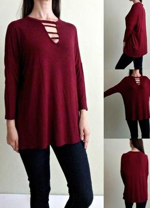 Лёгкая трикотажная блуза лонгслив