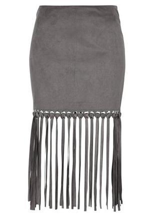 Новая юбка gina tricot с бахромой, s