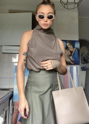 Блуза топ оригинальный дизайн водолазка минимализм cos