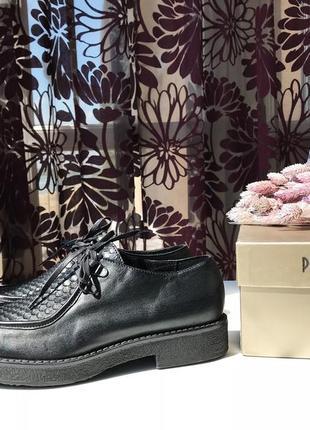 Роскошные кожаные туфли-ботинки, натуральная кожа, италия