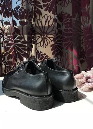 Роскошные кожаные туфли-ботинки, натуральная кожа, италия7 фото