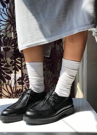 Роскошные кожаные туфли-ботинки, натуральная кожа, италия5 фото