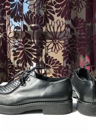 Роскошные кожаные туфли-ботинки, натуральная кожа, италия3 фото