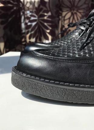 Роскошные кожаные туфли-ботинки, натуральная кожа, италия2 фото