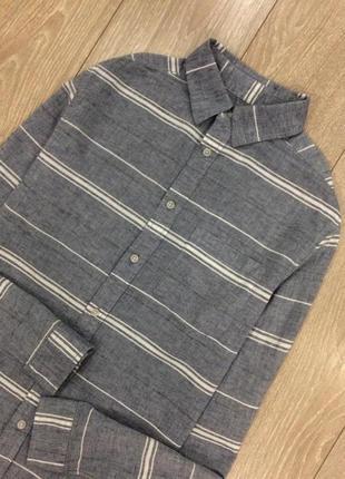 Рубашка в полоску лён котон