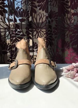 Актуальные кожаные сапоги - казаки, натуральная кожа, италия2 фото