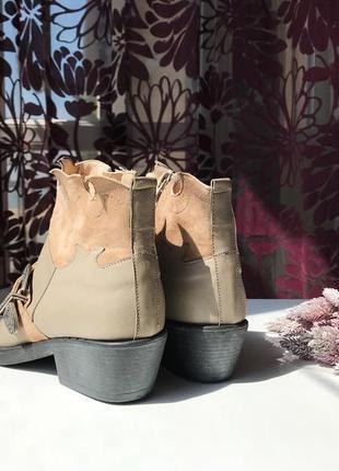 Актуальные кожаные сапоги - казаки, натуральная кожа, италия6 фото