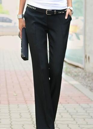 Новые базовые прямые черные брюки 44-46 (евро 36-38) хорошая длина