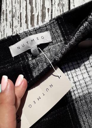 Актуальная юбка в клетку с пуговками nutmeg в размере 103 фото
