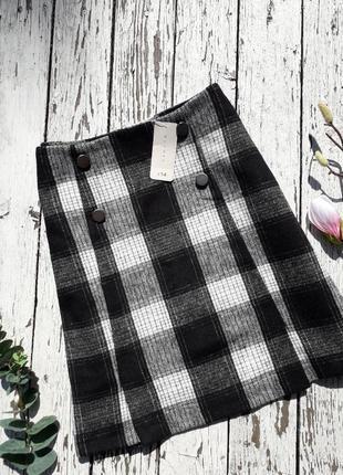 Актуальная юбка в клетку с пуговками nutmeg в размере 10