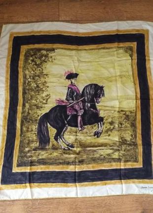 Jeanne lanvin castillo vintage коллекционный шелковый платок