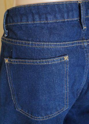 Широкие джинсы кюлоты с высокой посадкой5 фото