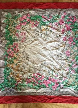Сhristian dior, шелковый дизайнерский платок!