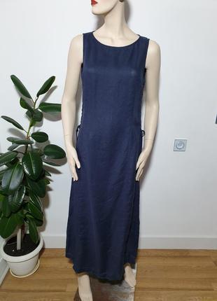 Льняное платье сарафан armani jeans