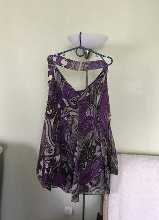 Летняя шифоновая юбка годэ с поясом