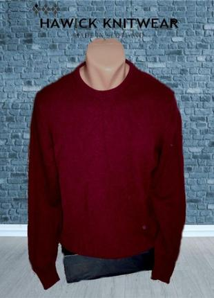 💨❄hawick knitwear 100% lambswool теплый мужской свитер m шотландия💨❄💨