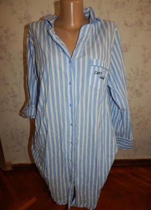 Love to lounge халат-рубашка батистовый р 10-12