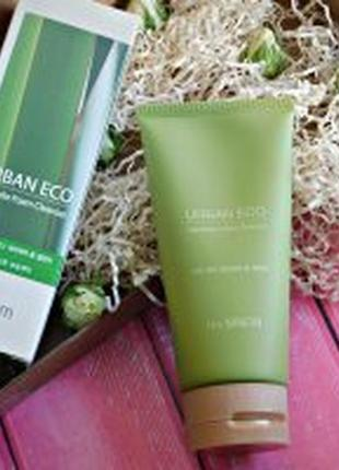 The saem urban eco harakeke foam cleanser пенка с новозеландским льном, 150г.