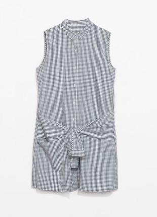 Легкое хлопковое платье-рубашка от zara