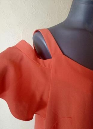 Финальная распродажа!неоновая блуза с открытыми плечами большой размер