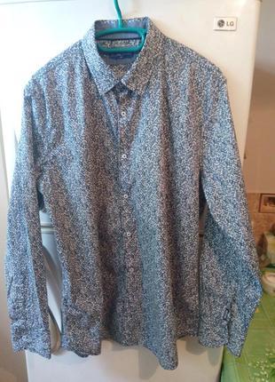 Шикарная мужская рубашка в принт от бренда «miller & monroe»