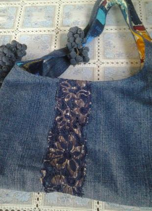 Сумка джинсовая стильная