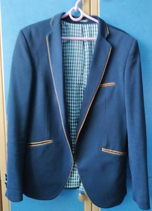 Модный пиджак, синеного цвета