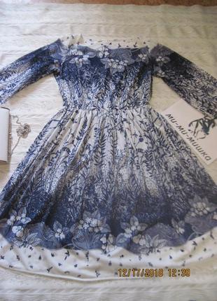 Стильное легкое платье с дизайнерским принтом всего за 99 грн! маломерит!