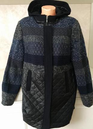 Стильное демисезонное пальто с капюшоном в стиле zara  италия