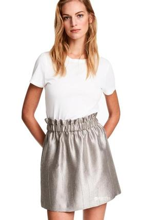 Серебристая юбка от h&m1 фото
