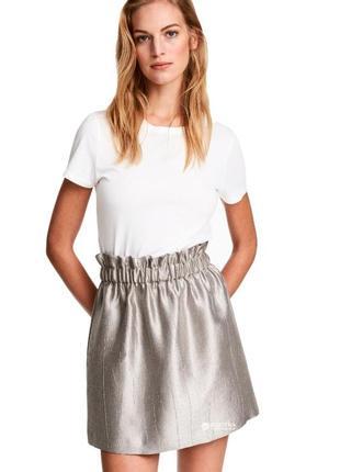 Серебристая юбка от h&m