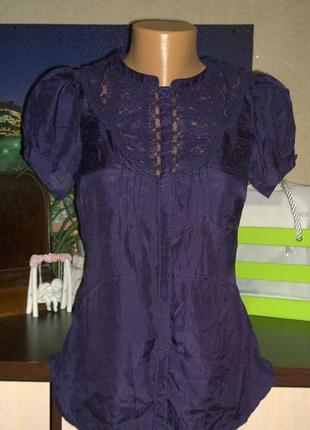 Блуза кофточка рубашка из натурального шелка warehouse
