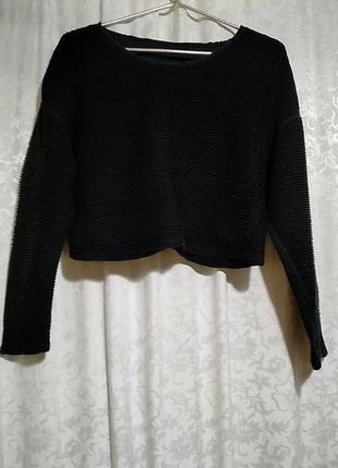Хлопковый трикотажный свитер, топ american apparel