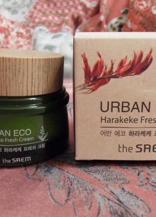 Питательный увлажняющий крем the saem urban eco harakeke fresh cream