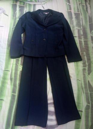 Школьная форма костюм тройка пиджак + брюки + сарафан carina