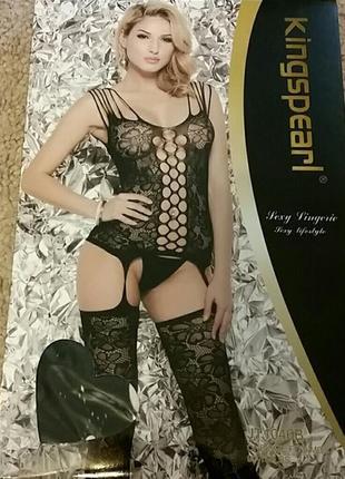 Kingspearl боди - сетка  эротичное бельё есть другие варианты