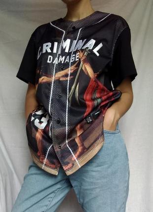 Футболка бомбер с короткими рукавами от criminal damage
