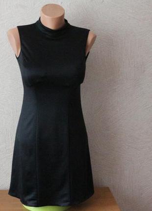 Маленькое, черное платье с комбидрессом внутри в стиле chanel