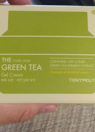 Tony moly крем-гель для лица с зелёным чаем