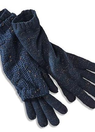 Вязанные, теплые перчатки от тсм tchibo