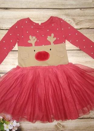Новогоднее платье некст на 12-18 мес
