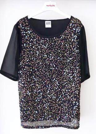 Богемная блузка вышивка пайетки футболка вышивка