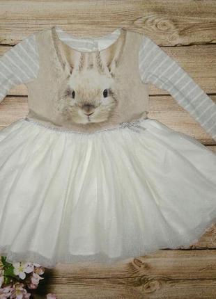 Красивейшее платье с кроликом некст на 1/6-2 года